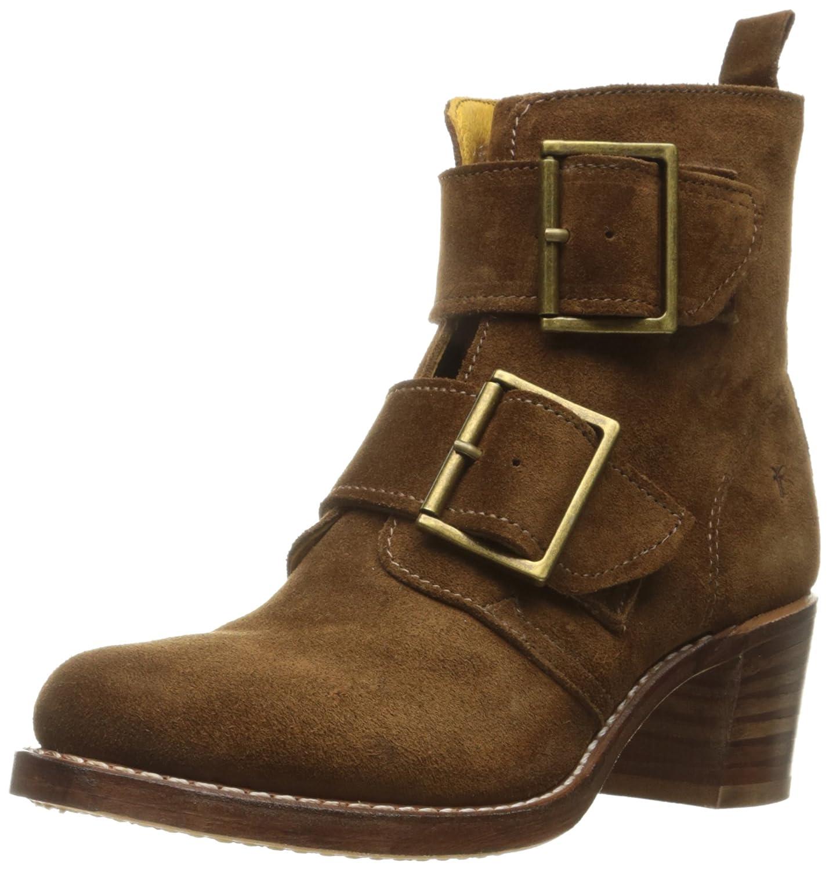 FRYE Women's Sabrina Double Buckle Suede Boot B01944BGAA 8.5 B(M) US|Wood