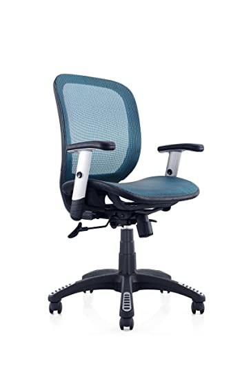 Ergomax Fully Meshed Ergo Office Chair (Blue)