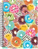 "iscream 'Happy Donuts' 3D Cover Spiral-Bound Lined-Page 8.5"" Journal"