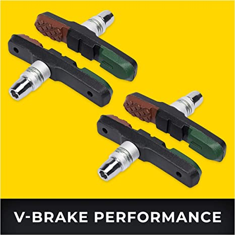 V-Brake Zapatas Freno 2 Par 72mm Asymmetric I para Shimano, Tektro ...