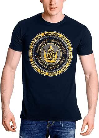Elbenwald Señor de los Anillos Camiseta de los Hombres Juntos para Gondor algodón Azul