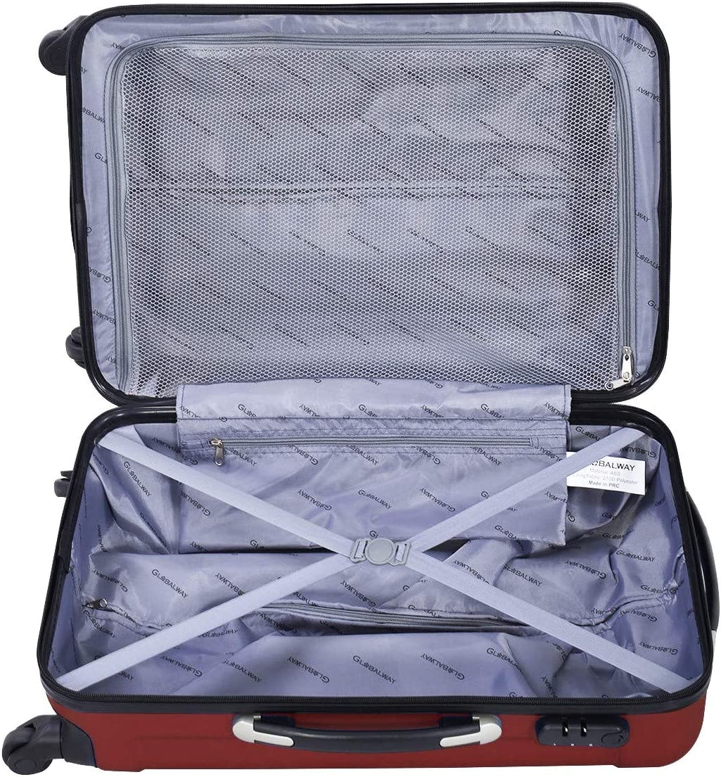 3 pcs 20 24 28 ABS+PC Luggage Travel Set Blue Only by eight24hours SPECIAL GIFT