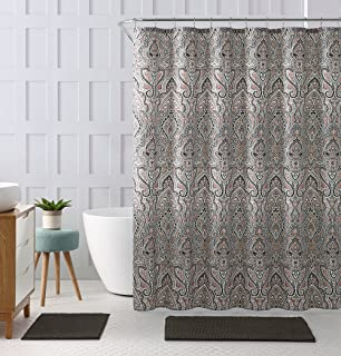 coral and brown shower curtain. Coral Brown Beige Cloth Fabric Shower Curtain  Floral Paisley Print Design 72 X Amazon Com Decorative Teal Orange Watercolor