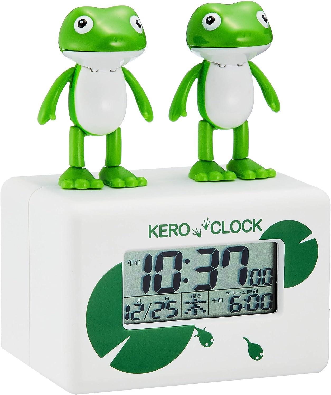 目覚まし時計 デジタル時計 ケロクロック2 リズム時計