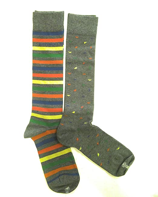 Emporio Armani - Calcetines cortos - para hombre Gris Gigio Melange Con Fantasia Talla única: Amazon.es: Ropa y accesorios