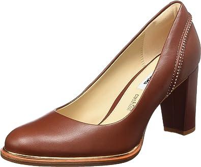 comestible correcto Palpitar  Clarks Ellis Edith, Zapatos de Tacón para Mujer, Rojo (Rust Leather), 39.5  EU: Amazon.es: Zapatos y complementos