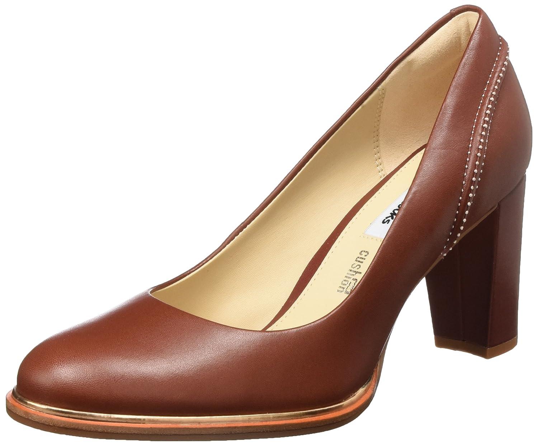 Clarks Ellis Edith, Zapatos de Tacón para Mujer 41.5 EU|Rojo (Rust Leather)