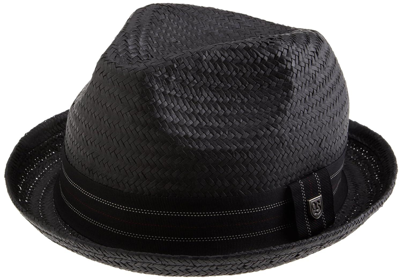 Brixton Men's Drifter Straw Fedora hat Black Straw Brixton Apparel 111-00009-0100