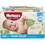 Huggies Natural Care Baby Wipes, Refill, 648 ct, Fragrance Free, Hypoallergenic,  Aloe and Vitamin E