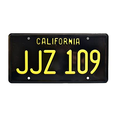 Celebrity Machines Bullitt | JJZ 109 | Metal Stamped License Plate: Automotive
