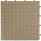 "DuraGrid 12"" x 12"" Interlocking Deck and Patio Tiles, Pack of 30, Beige"