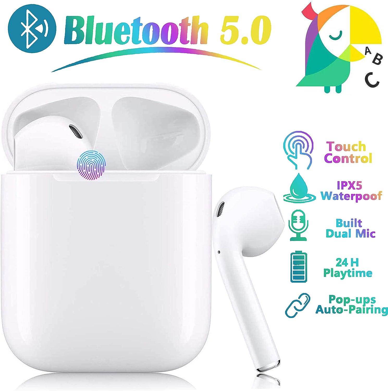 In-Ear-Kopfh/örer drahtlose Touch-Kopfh/örer Kopfh/örer mit Ger/äuschunterdr/ückung Bluetooth-Kopfh/örer tragbare Sport-Bluetooth-Funkkopfh/örer f/ür Apple Airpods Android//iPhone//Samsung//AirPods Pro