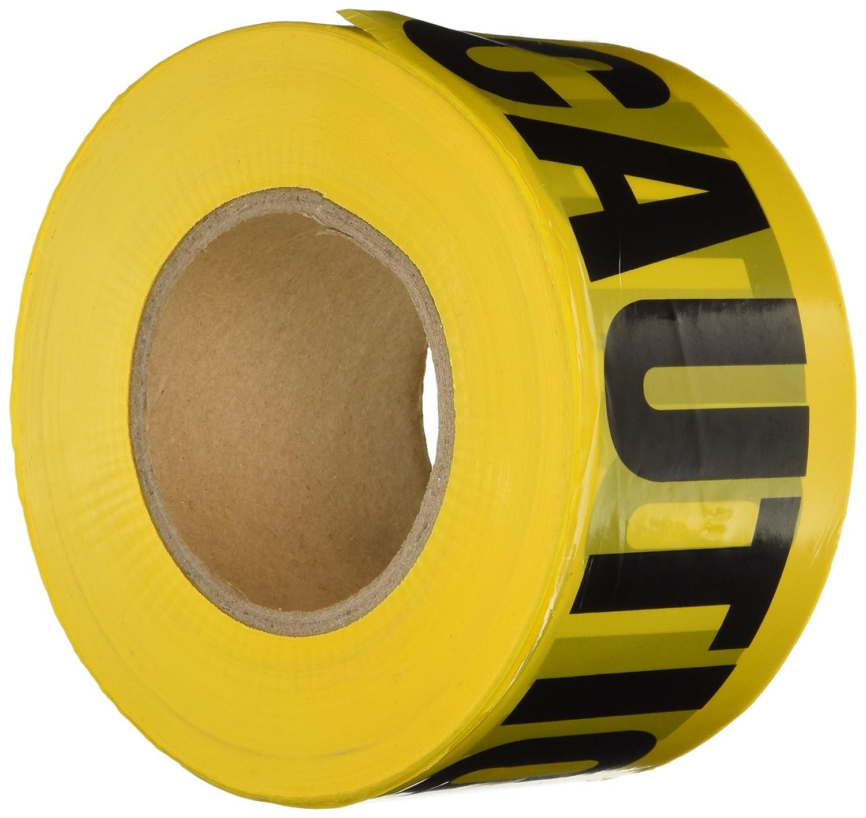 Yellow Notice On Front Door: Comfitwear PT 100 Caution Barricade Tape, Yellow