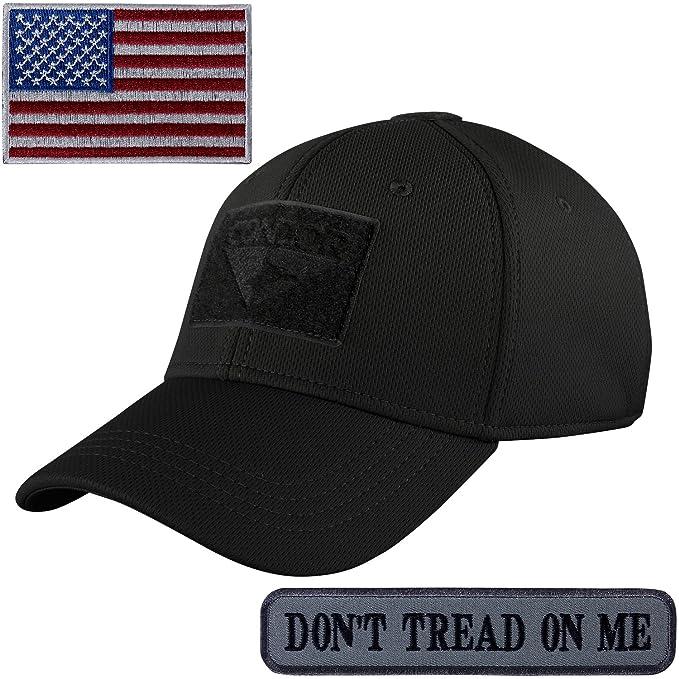 Condor Flex Fit Tactical Cap Small with Subdued U.S. Flag TWO Morale Patch  Bundle e77edb16c