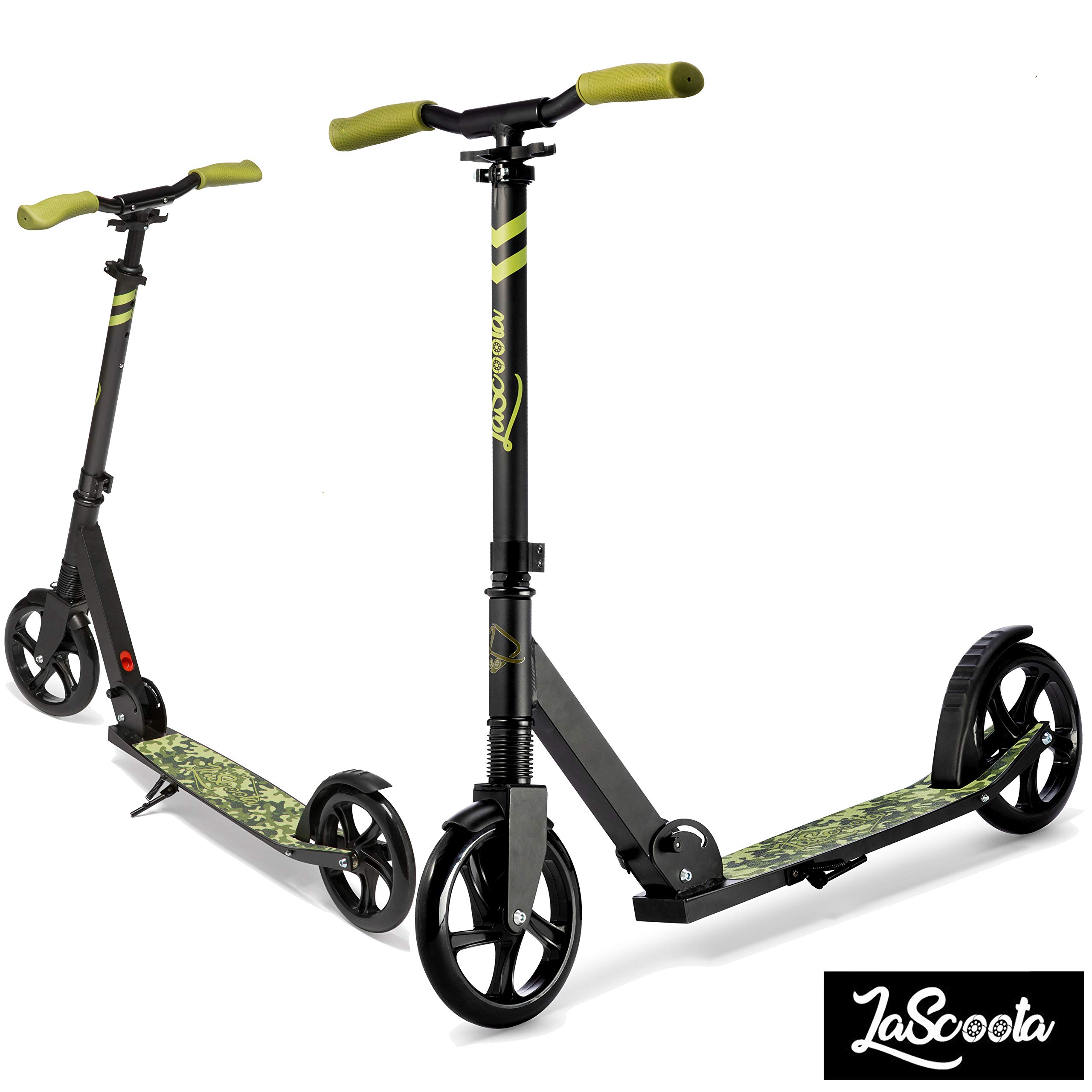 Lascoota Scooters for Kids 8 Years and up - Featuring Quick-Release Folding System - Dual Suspension System + Scooter Shoulder Strap 7.9'' Big Wheels Great Scooters for Adults and Teens
