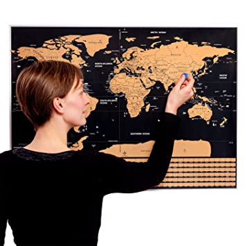 Mygadget scratch off world map poster xxl wall card 77 x 56 cm mygadget scratch off world map poster xxl wall card 77 x 56 cm gumiabroncs Choice Image