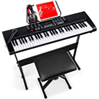 Best Choice Products 61-Key Beginners Electronic Keyboard Piano Set w/LED Screen, Recorder, 3 Teaching Modes, H-Stand…