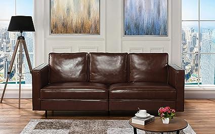 Amazon.com: Casa Andrea Milano Mid-Century Modern Leather ...