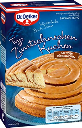 Dr Oetker Typ Zimtschnecken Kuchen Backmischung 535g Amazon De