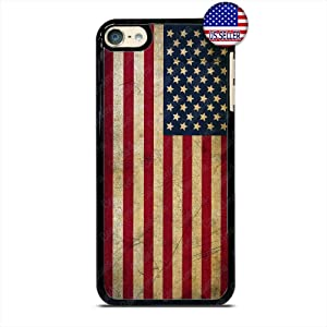 US Flag Star and Stripes Pride American Phone Case Slim Shockproof Hard PC Custom Case Cover for iPod Touch 7 6 5