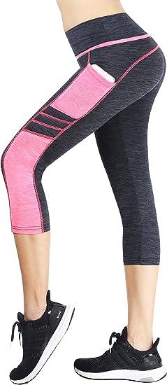 Munvot Mujer Mallas Deportivas Pantalones Cortos con Bolsillo para ...