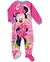 Minnie Mouse Girl's 3T Fleece Footed Blanket Pajama Sleeper