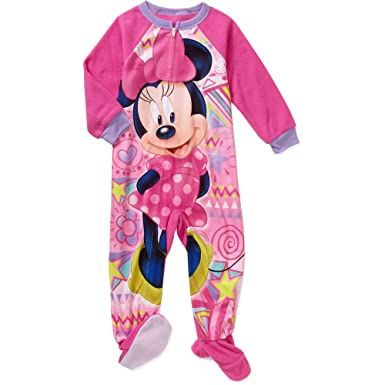 Image Unavailable. Image not available for. Color  Minnie Mouse Girl s 3T Fleece  Footed Blanket Pajama Sleeper d4c1d153a