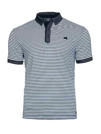 Raging Bull Camisa de Cuello diseño de Rayas Jersey Polo para ...