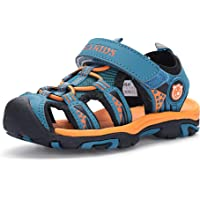 Hehainom Boy's Girl's Jess Athletic Beach Sandals Closed Toe Summer Outdoor Water Shoes (Toddler/Little Kid/Big Kid)