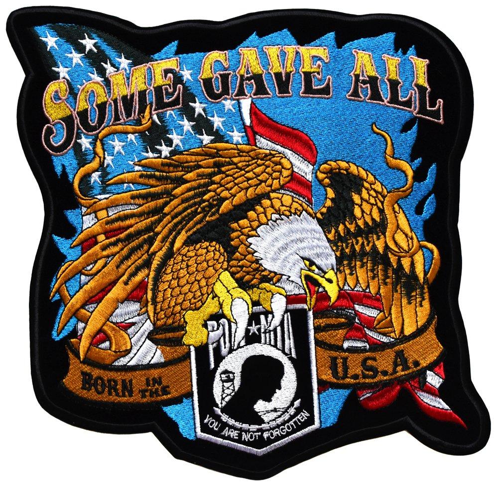 topt mili ecusson Aigle Moteur us USA Route 66 Moto Biker Eagle thermocollant Grand Format 25x25cm patche Badge