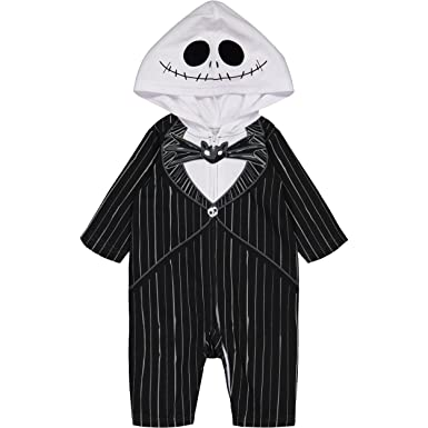 Nightmare Before Christmas Jack Skellington Baby Boysu0027 Hooded Costume Coverall (0-3 Months  sc 1 st  Amazon.com & Amazon.com: Baby Boysu0027 Jack Skellington Costume Coverall: Clothing