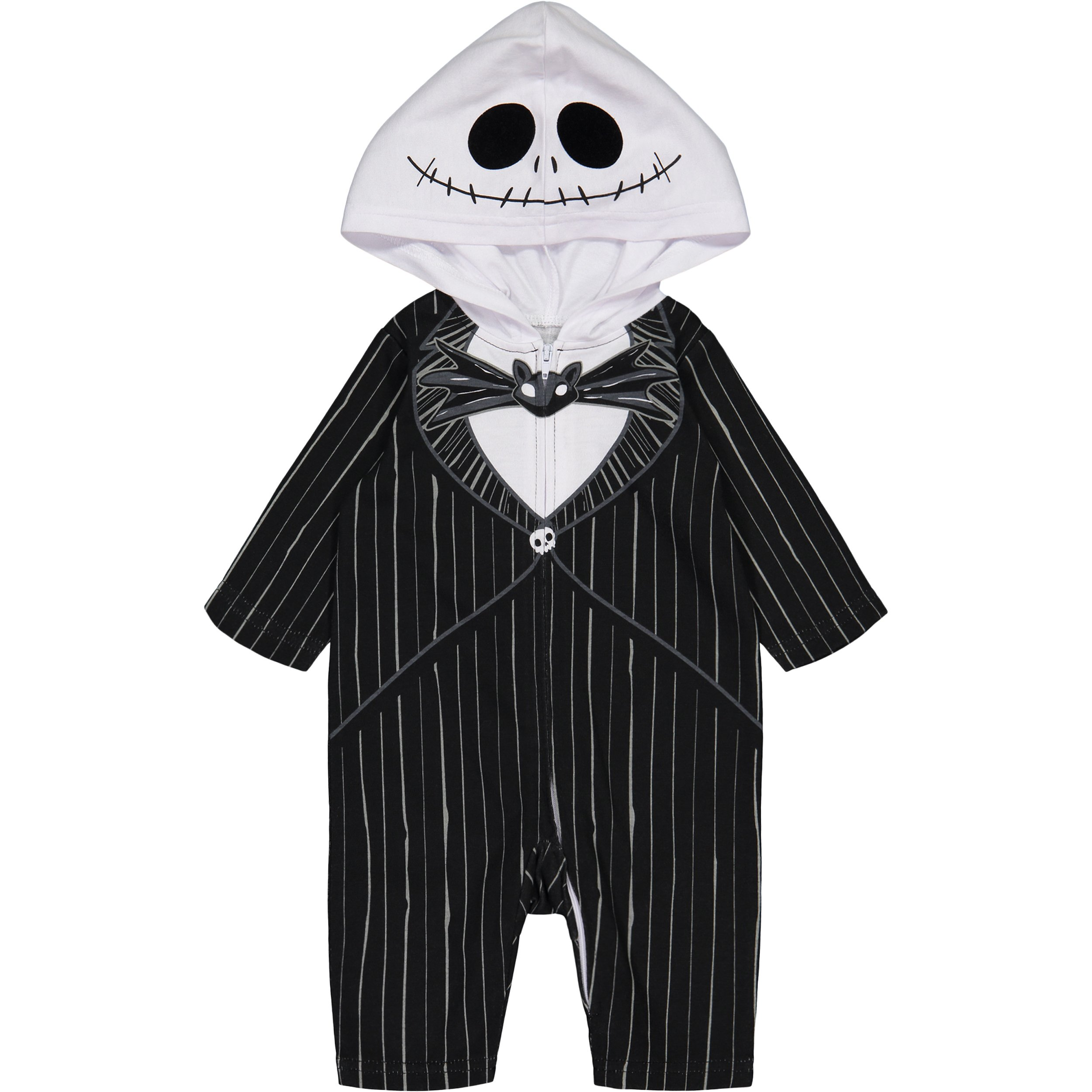 Nightmare Before Christmas Jack Skellington Baby Boys' Hooded Costume Coverall (0-3 Months)