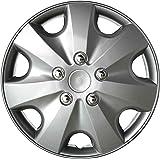 16 Silver Replica Wheel Cover KT1019-16S//L Set of 4 16 Silver Replica Wheel Cover, Toyota Matrix Drive Accessories KT-1019-16S//L