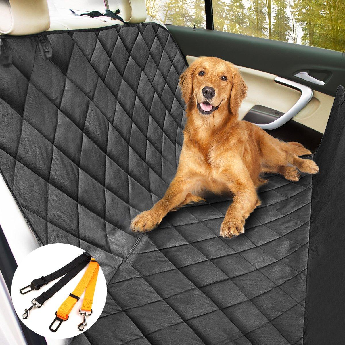 Auto Hundedecke, Morpilot Hunde Autoschondecke mit Wasserfestes, Hochwertiges Material Auto Hundedecke Kofferraumschutz Anti-Rutsch-Universales Design für alle Autos, Lastkraftwagen & SUV schwarz(147cm x 137cm)