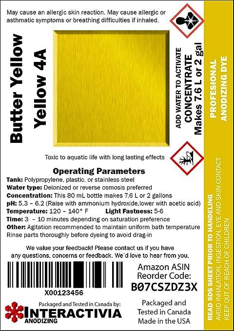 4 oz Yellow 3GL Anodize Dye