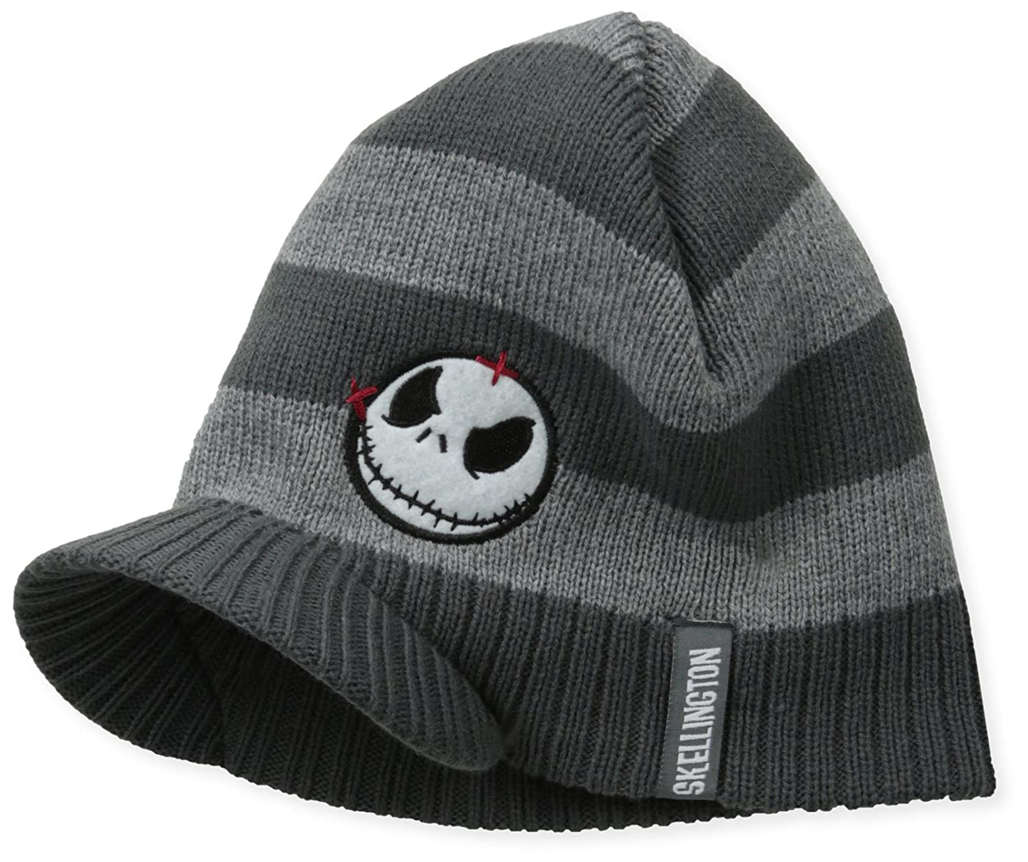 3a59d82fcf69a Nightmare Before Christmas Men s Jack Striped Visor Beanie
