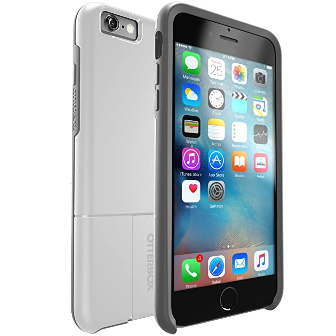 sale retailer 9fc65 92dd1 OtterBox uniVERSE iPhone 6 Plus/6s Plus Module/Swappable Case - Retail  Packaging - SNOWCAPPED (BRIGHT WHITE/SLEET)