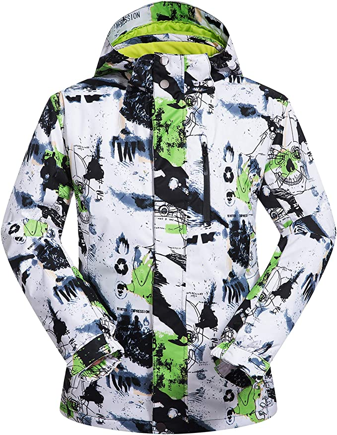 Winter Mens Outdoot Hiking Climbing Ski Windproof Waterproof Coat Hooded Outwear
