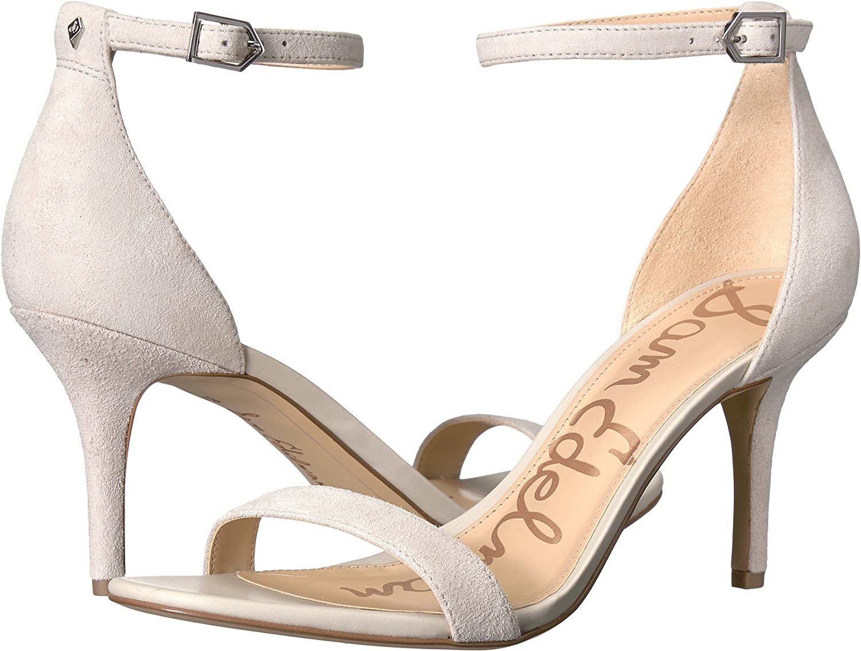 Grey Kid Suede Leather Sam Edelman Women's Patti Fashion Sandals