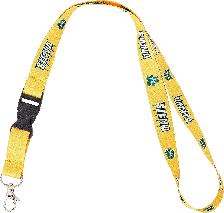 Siena College Saints NCAA Car Keys ID Badge Holder Lanyard Keychain Detachable Breakaway Snap Buckle