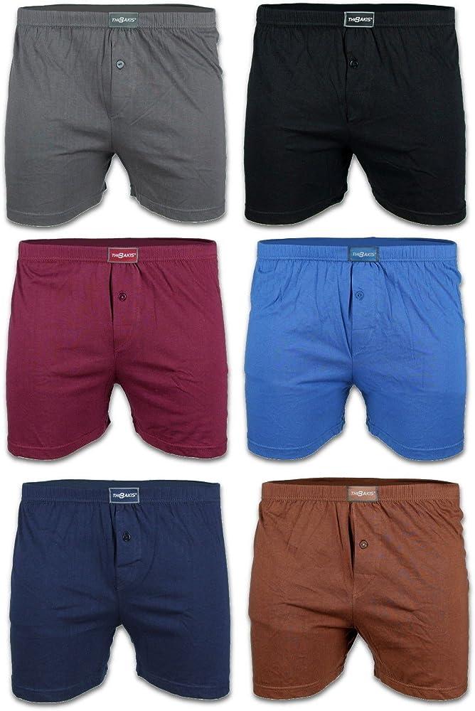 BestSale247 - Juego de 6 calzoncillos tipo bóxer para hombre con abertura, estilo retro, tallas grandes, 100% algodón, de M a 7XL Negro azul marino y gris. M: Amazon.es: Ropa y accesorios