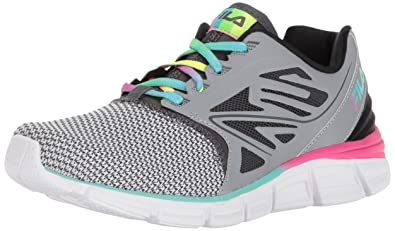 fddc223e1348 Fila Women s Memory MULTISWIFT Running Shoe Metallic Silver Dark  Shadow Multi 7.5 Medium US