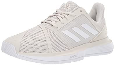 brand new 30941 39ba3 adidas Womens Courtjam Bounce, raw WhiteMatte Silver, ...