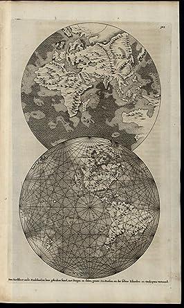 Map Of Australia 1700.Amazon Com World Spheres California As Island Australia 1700 Rare