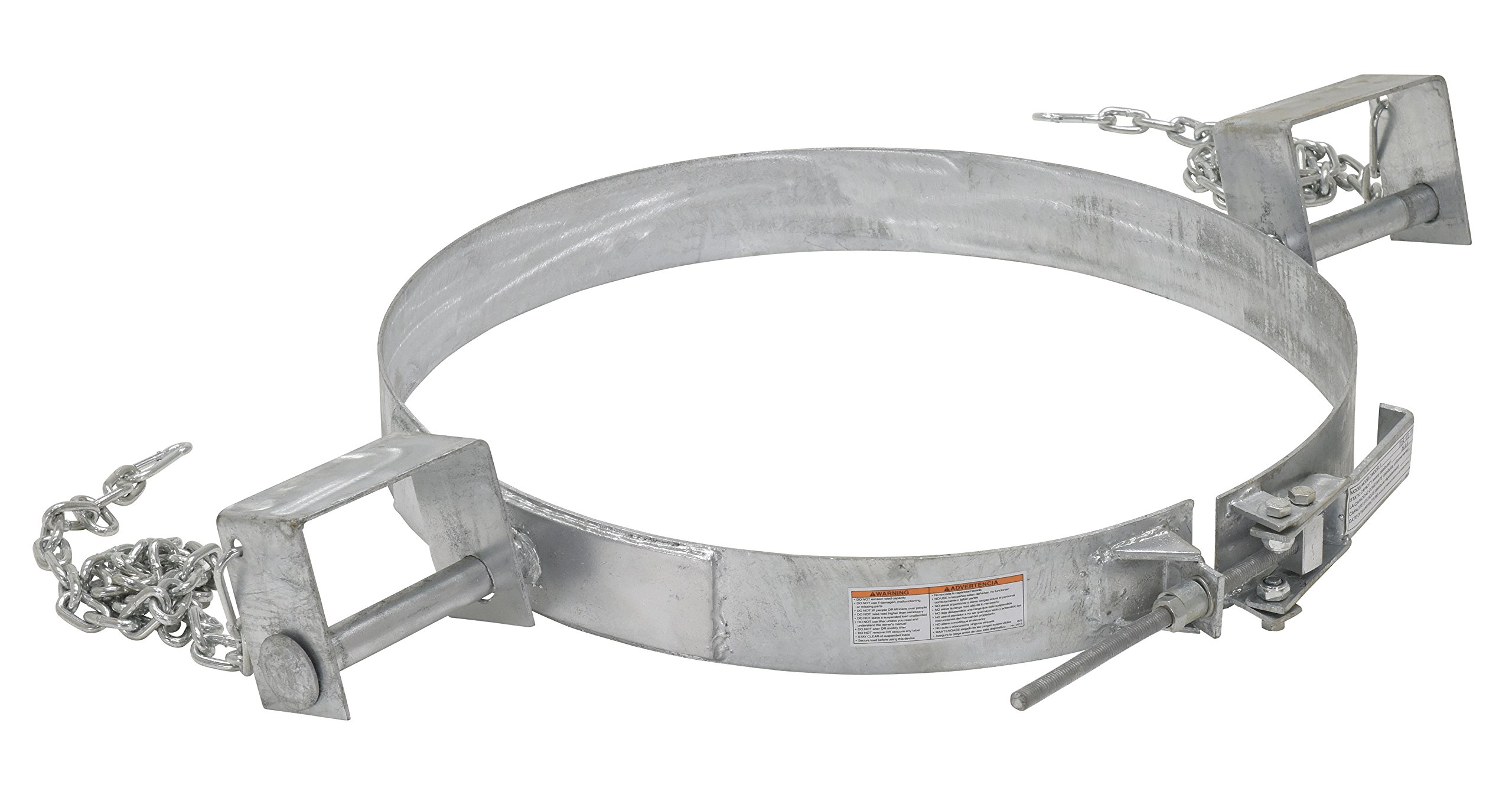 Vestil TDR-55-G Galvanized Tilting Drum Ring, 25'' Length, 55 gal