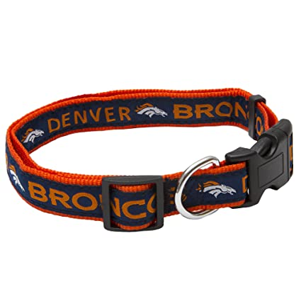 3ae8281c7 Amazon.com   Pets First NFL Denver Broncos Pet Collar