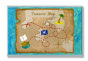 Kids Treasure Map Amazon.com: The Kids Room by Stupell Pirate's Treasure Map  Kids Treasure Map