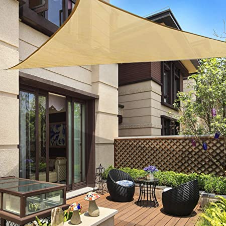 Qozy Waterproof sun shade sail patio pool garden Square Rectangle Triangle Sand