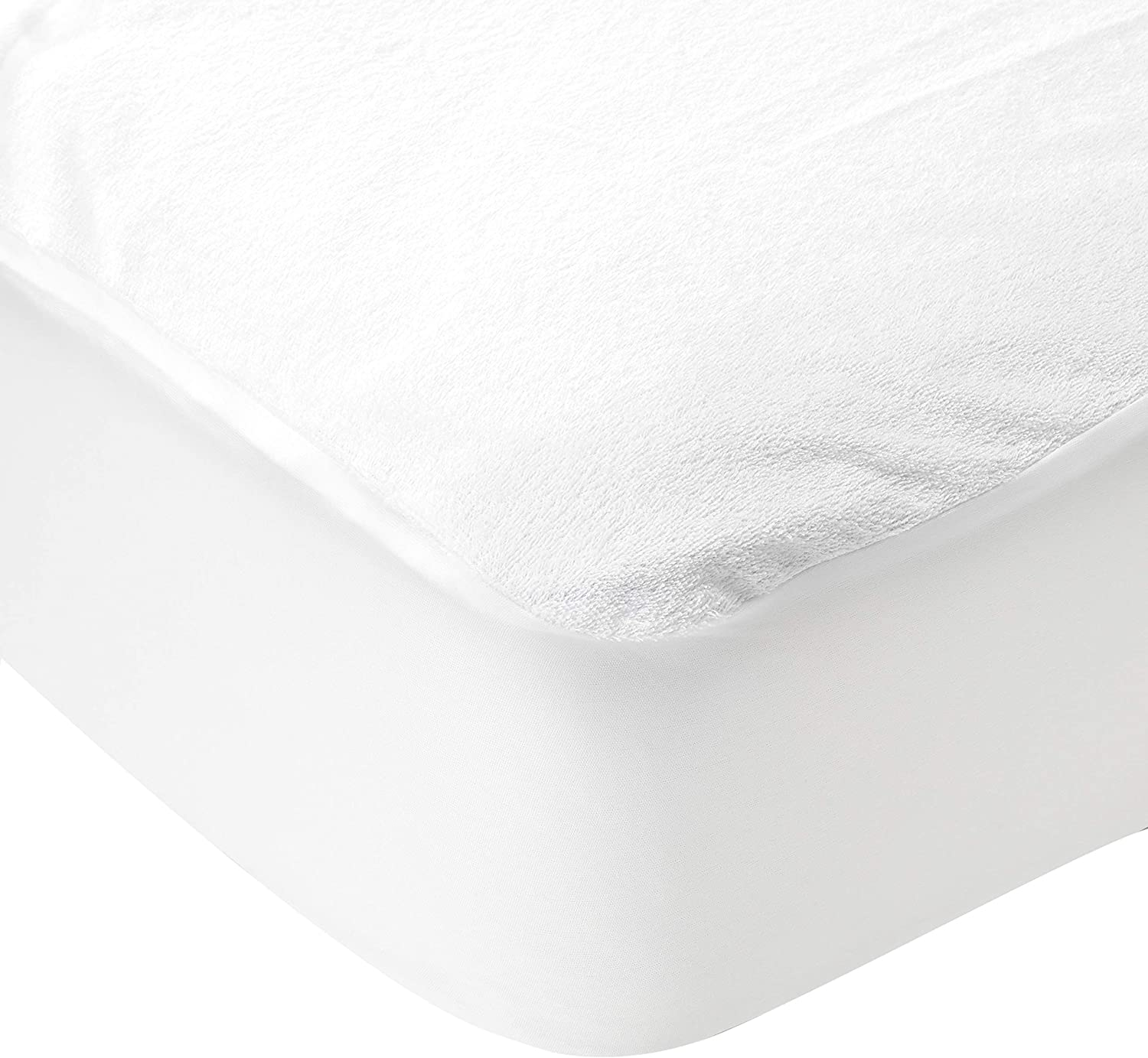 Twin Deconovo Zippered Mattress Encasement Cotton Terry Fitted Soft Breathable Waterproof Vinyl Free and Noiseless Protector Cover 12 Deep