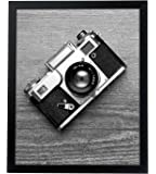 """16x20 Black Picture Frame - 1.5"""" Wide - Smooth Black Finish; Vertical and Horizontal Hanging Hardware Included"""